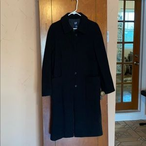 90's gap black wool pea coat.
